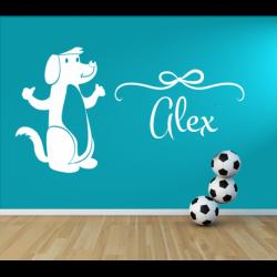 Wandtattoo Kinderzimmer Hund mit eigenen Name