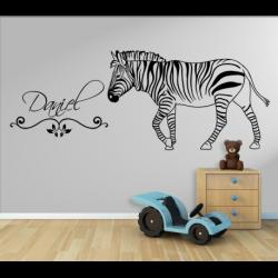 Wandtattoo Kinderzimmer Zebra mit eigenen Name