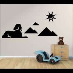 Wandtattoo Kinderzimmer Große Sphinx von Gizeh mit Pyramiden und Sonne
