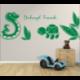 Wandtattoo Kinderzimmer Dschungel Freunde Schildkröte und Schlange im Regenwald