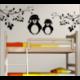 Wandtattoo Kinderzimmer Pinguine mit Mütze unter Mistelzweig