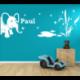 Wandtattoo Kinderzimmer Elefant neben Teich