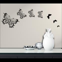 Wandtattoo Schmetterlinge viele sieben Familie der Schmetterlinge