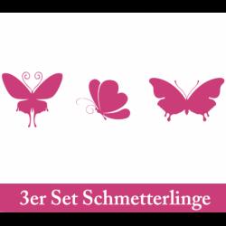 Wandtattoo drei große Schmetterlinge
