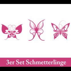 Wandtattoo drei große Schmetterlinge von oben