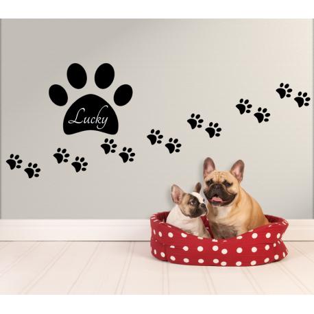 Wandtattoo Hundepfoten Fussspur Von Kleinen Sussen Hundepfoten