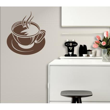 wandtattoo gro e tasse kaffee cafe mit schaum cappuccino edel. Black Bedroom Furniture Sets. Home Design Ideas