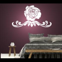 Wandtattoo Rose mit Zier Blüte