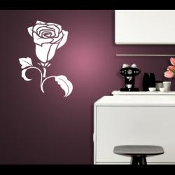 Wandtattoo Rose mit Stiel Blüte