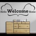 Wandtattoo Hello Welcome Home