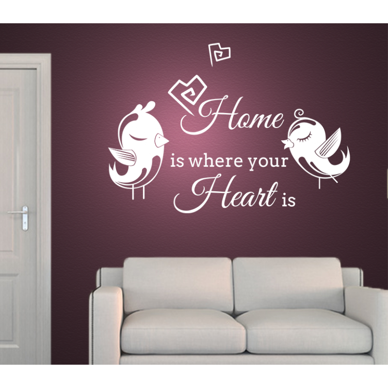 Wandtattoo home is where your heart is - Wandtattoo home ...