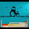Wandtattoo Kinderzimmer Pinguine mit Schal outdoor