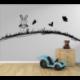 Wandtattoo Kinderzimmer Hase Hasi mit Schmetterlinge auf der Wiese