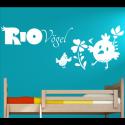 Wandtattoo Kinderzimmer RIO Vögel Küken