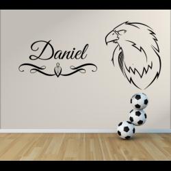 Wandtattoo Kinderzimmer starker Adler mit eignem Name